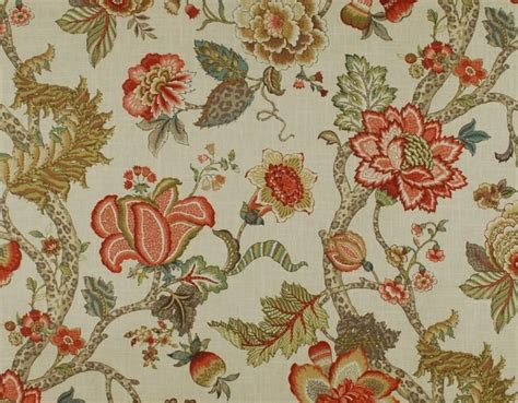 jacobean floral curtain fabric details about malawi khaki floral jacobean fabric