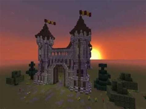 minecraft detailed medieval gatehouse tutorial part