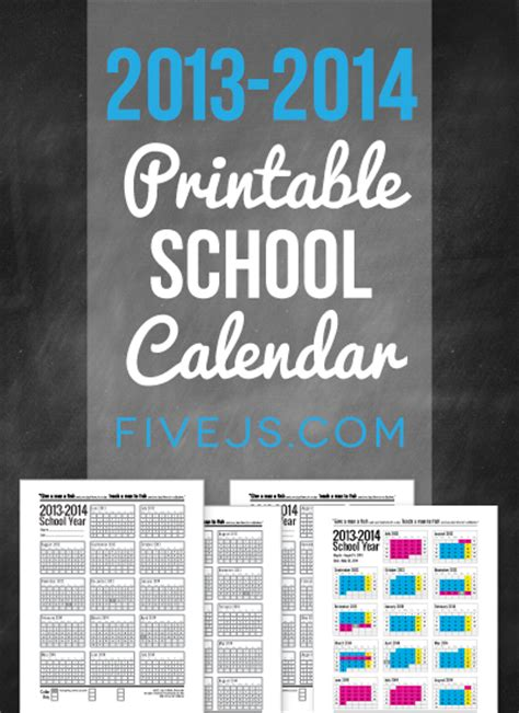 printable homeschool calendar