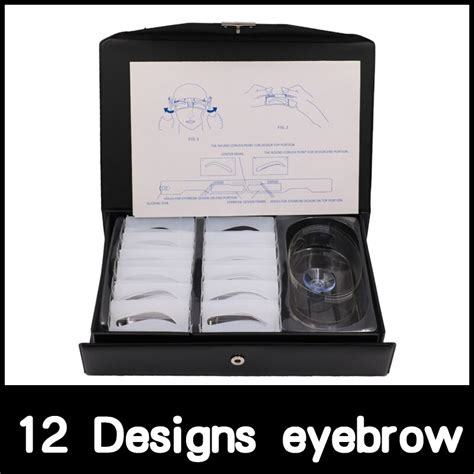 3pcs reusable eyebrow grooming stencil eye brow drawing template card tips makeup tool diy beauty eyebrow shadow shaper kit sets. Free shipping 12 Designs Permanent Makeup Eyebrow Stencil ...