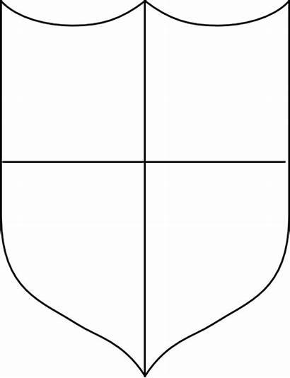 Shield Heraldic Shields Blank Clip Relief Printable