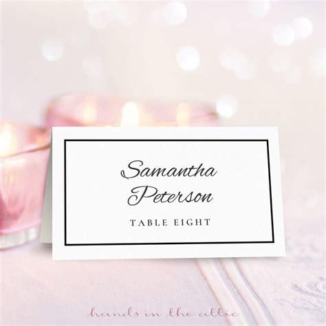 wedding place card template   hands