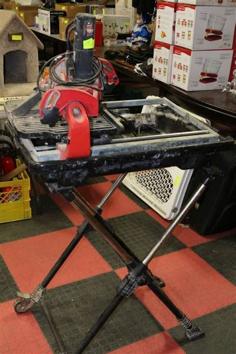 husky wet tile saw with stand kastner auctions