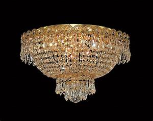 Elegant lighting 4 lights flush mount 16quot chandelier 1900 for Flush mount chandelier lighting