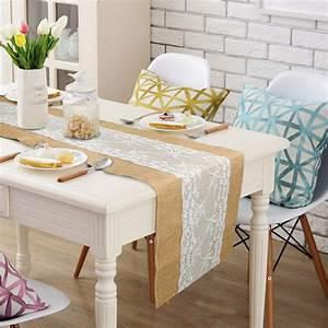chemin de table toile de jute pour booster votre decoration With salle de bain design avec décoration mariage toile de jute et dentelle