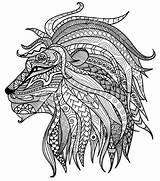 Coloring Lion Printable Adults Adult Lions Rasta Drawing Head Colour Mandala Zentangle Getdrawings Everfreecoloring Målarböcker Vuxna För Målarbok Animals Sheets sketch template