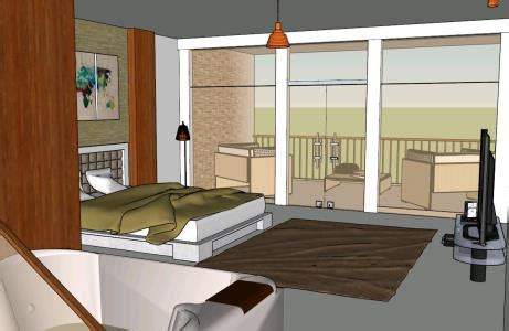 stars hotel room  skp cad   mb