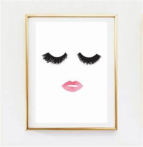 popular items for home decor wall art on etsy makeup print With fashion wall art