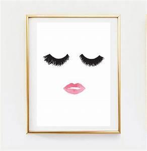 makeup print wall decor home decor wall art minimalist With wall art prints