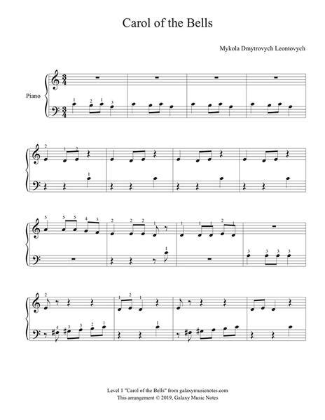 This is an easy song and requires practice. Carol of the Bells | Beginner's Christmas piano solo sheet music