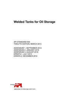 API Std 650 Datasheets