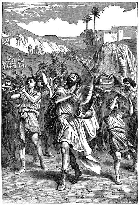 david bringing  ark  jerusalem  great rejoicing