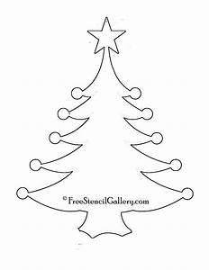 Christmas, Tree, Stencil, 11