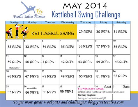 kettlebell challenge workout swing month swings kettle monday birthday exercise challenges workouts loss weight gym short