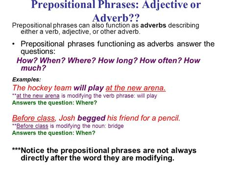 more about prepositions ppt