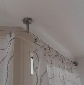 Gardinenstange über Eck : 5m vorhang seilsystem edelstahl vorhangstange ~ Michelbontemps.com Haus und Dekorationen
