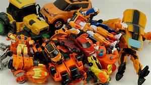 Hellocarbot Robot Transformers Tobot Orange Car Bulldozer