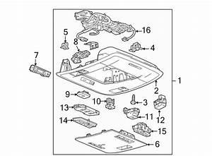 2015 Gmc Sierra 3500 Hd Overhead Console  W  O Sunroof  W