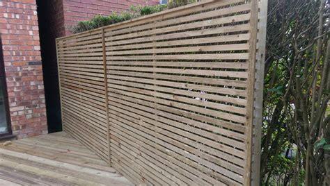 Slatted Screen Fencing
