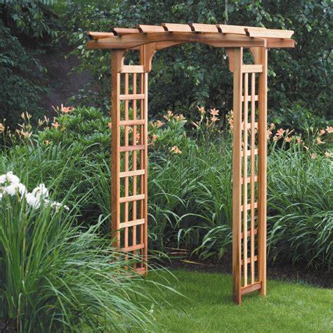 Wooden Garden Trellis by Pergola Arbor Lawn Patio Solid Wood Wooden Cedar Garden