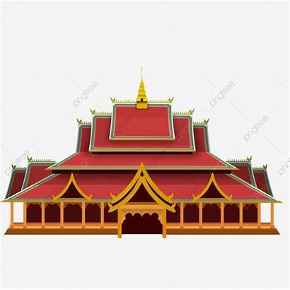 Temple Cartoon Buddha Building Yunnan Clipart National