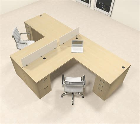 two person l shaped desk two person l shaped modern divider office workstation desk