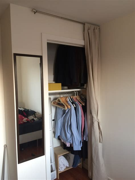 mounting doubling the size of a closet with two rods