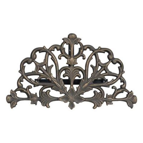 whitehall products rubbed bronze filigree hose holder