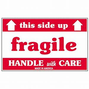 3quot x 5quot fragile this side up labels 500 labels per roll With 3x5 labels