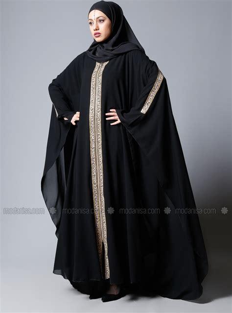 cape maxi 2 abaya black abaya modanisa