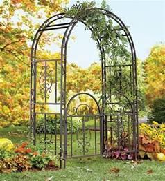 Treillis Metal Jardin by Large Garden Arbor Iron Patio Archway W Optional Gate