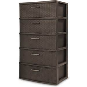 sterilite 5 drawer weave tower espresso walmart com