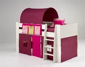 Bett Für 2 Jähriges Kind : kinderbett hochbett bett tunnel vorhang lila pink mdf wei lackiert kinderzimmer baby kinder ~ Markanthonyermac.com Haus und Dekorationen