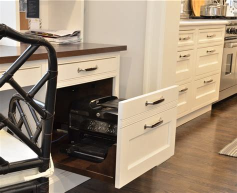 desk with printer drawer traditional kitchen with storage ideas home bunch 6689