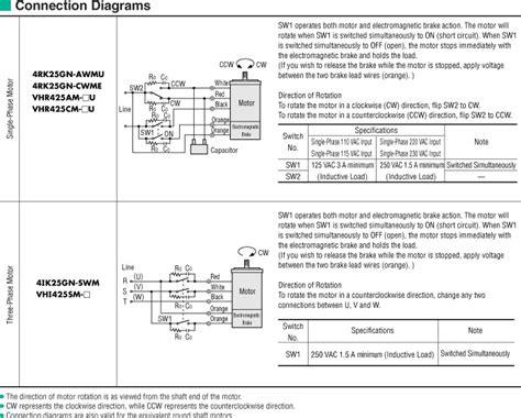 Rk Wiring Diagram by Item 4rk25gn Awmu Electromagnetic Brake Reversible