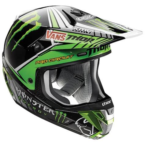 monster energy motocross gear thor verge pro circuit monster energy helmet revzilla