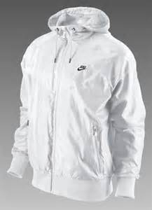 All White Nike Windbreaker Jacket Men