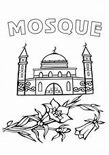 Mosque Coloring sketch template