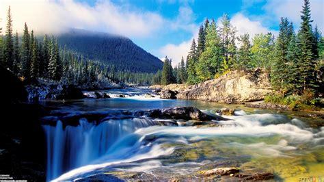 waterfall landscapes waterfall landscape wallpaper 23352 open walls
