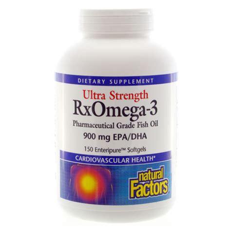 ultra strength rx omega  natural factors