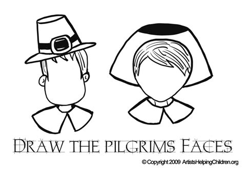 pilgrim boy  girl coloring pages coloring pages