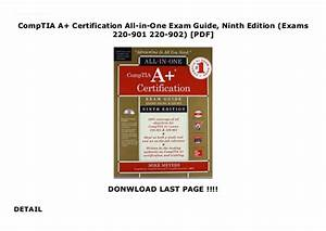 Comptia A  Certification All