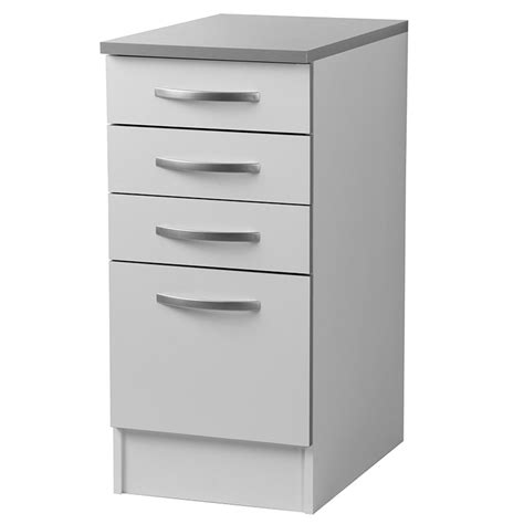 meubles de cuisine bas meuble bas de cuisine 4 tiroirs blanc viva lestendances fr