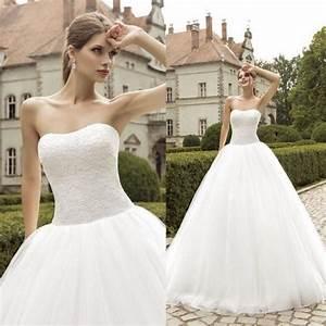 Strapless Wedding Dresses Plus Size 2015 Cheap Lace ...