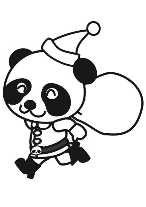 Kleurplaat Baby Panda by Kleurplaat Panda In Kerstpak Afb 20560 Images