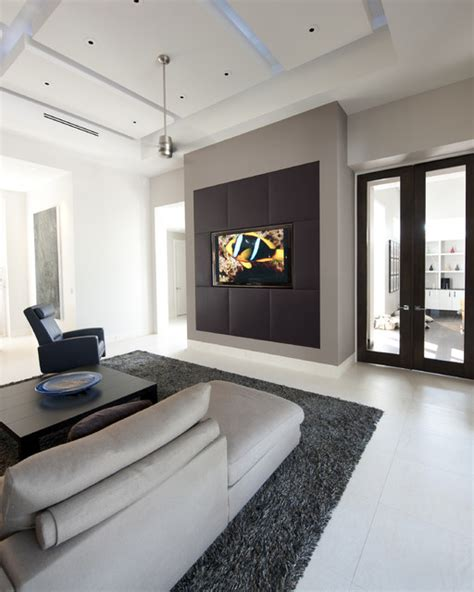 Media Wall  Contemporary  Family Room  Tampa by