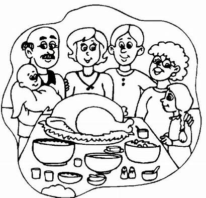 Coloring Thanksgiving Dinner