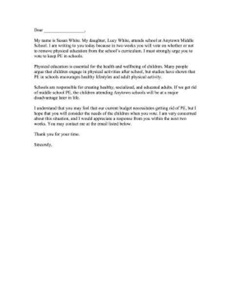 complaint letter  school board
