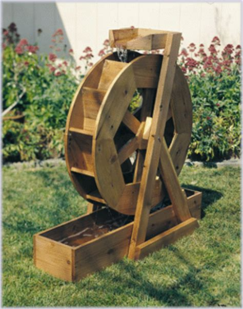 water wheel plan   outdoor plans projects