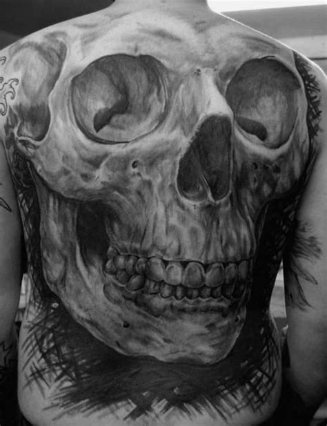 50 Realistic Skull Tattoos For Men - Masculine Design Ideas